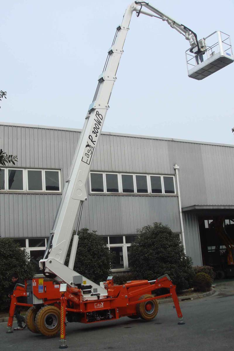 EasyLift R300WBA/R300WHY – Telescopic platform on wheels