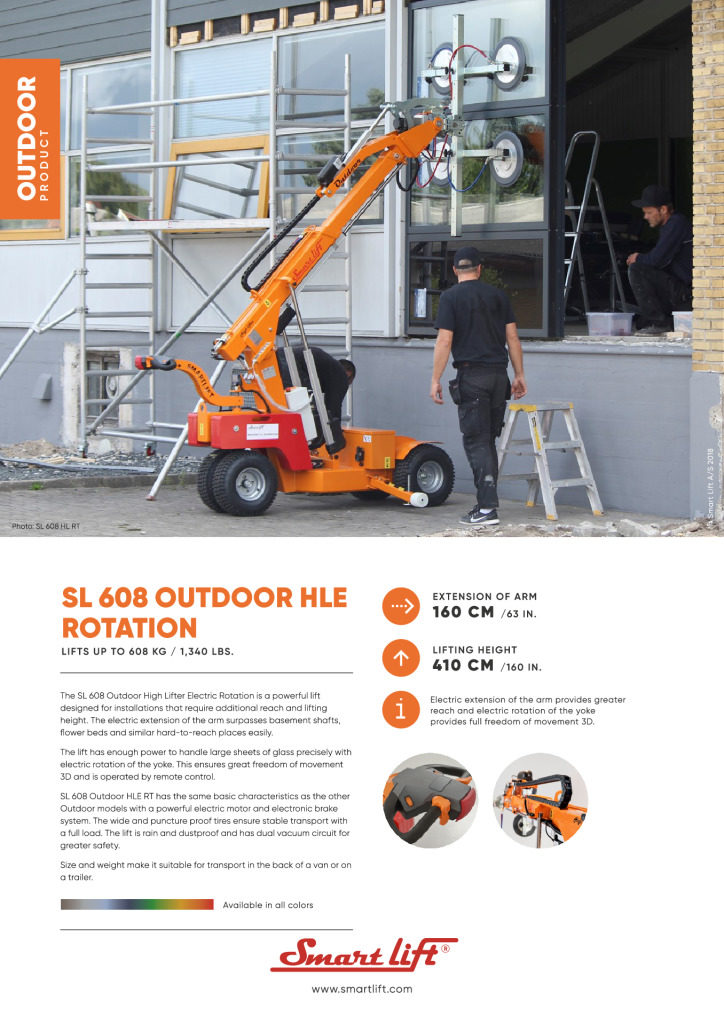 thumbnail of datasheet-608 Outdoor High Lifter Electric RT